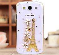 Diamant Eisenturm Blütenblatt Hülle für Samsung i9300 Galaxy S3