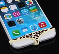 patrón de la impresión del leopardo caso pantalones triángulo botón de la forma femenina casa para el iphone 6 / 5s / 5/4 / 4S y otros (colores