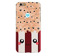 Kawaii Popcorn Pattern Hard Plastic Case Cover for iPhone 6