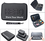 """Fat Cat Dual-Cam 13"""" Professional Extra Thick Anti-shock EVA Protective Case for GoPro Hero 4 / 3+ /3 / 2"""