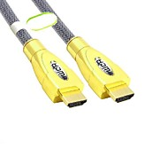 2M Hight Quality Luxury Gold-Plated HDMI V1.4 Male to Male Cable Free Shipping