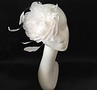 weißen Brautfederhaar fascinator