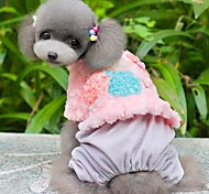 Lovely Little Pink Shinning Cherry Jumpsuits Coats for Pets Dogs Dog Clothes (Assorted Sizes)