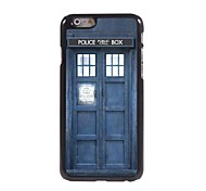 Police Box Pattern Aluminum Hard Case for iPhone 6 Plus