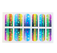 DIY 3D Easy Working Quality Nail Tip Stickers Glitter Gradient Decoration