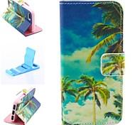 blauer Himmel Muster PU-Leder Ganzkörper-Case für iPhone 4 / 4S