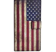 patrón de la bandera americana el caso de cuero de la PU con el soporte y la tarjeta de la ranura para una OnePlus
