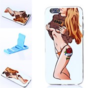 Beautiful Brown Hair Pattern Silicone Soft Cover for iPhone 6