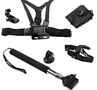 Accessories For GoPro,Telescopic Pole Chest Harness Front Mounting Monopod Tripod Case/Bags Hand Grips/Finger Grooves Mount/HolderFor-