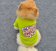 Beautiful Candy Color Cotton T-shirt for Pet Dogs Assorted Colors Sizes