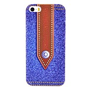 Dark Blue Jeans Pattern Relief Hard Case for iPhone 5/5S