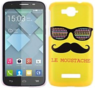 Moustache and Sunglass Pattern PC Hard Cover Case for Alcatel One Touch Pop C7(Assorted Color)