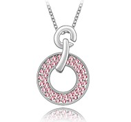 Whisper of Love Lady's Short Necklace Plated with 18KGP True Platinum Light Rose Crystallized Austrian Crystal Stones