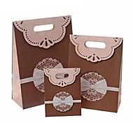 Lureme Fashion Bowknot Pattern Velcro Closure Gift Bag(Random Color)(1 Pc)