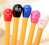 Colorful Match Shaped Blue Ink Ballpoint Pen(1 PCS Random Color)