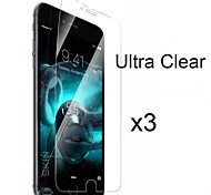 3 x Ultra Clear High Definition Screen Protector with Cleaning Cloth for iPhone 6 Plus