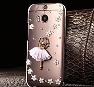 Para Funda HTC Diamantes Sintéticos / Transparente Funda Cubierta Trasera Funda Brillante Dura Policarbonato HTC