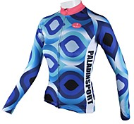 PaladinSport Women's Blue Eyes  Spring and Summer Style 100% Polyester  Long Sleeved Cycling Jersey