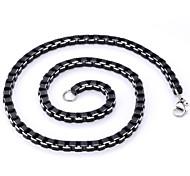 u7® fresco collana della lega di alluminio catene scatola nera di alta qualità monili 6 millimetri uomini