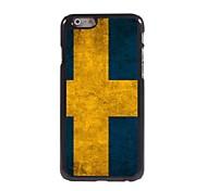Flag of Sweden Pattern Aluminum Hard Case for iPhone 6