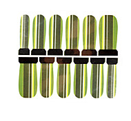 12PCS Green Stripe Pattern Watermark Nail Art Stickers C6-011
