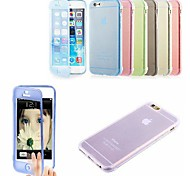 Solid Color with Touch Screen Full Body Case for iPhone 6/6S (Assorted Colors)