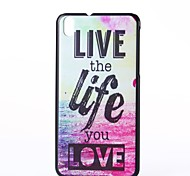 Beautiful Life Pattern Plastic Hard Case for HTC Desire 816