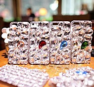 Luxury with Diamond Hard Back Cover for iPhone 4 /  iPhone 4S  (Assorted Colors)