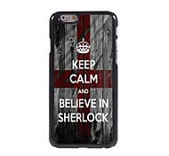 Keep Calm and Believe in SHERLOCK Design Aluminum Hard Case for iPhone 6