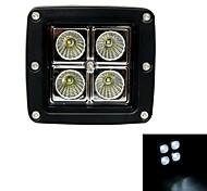12W Type/F Flood 6000K 4-Cree XB-D LED Square Work Light Bar DIY Used in Car/Boat/Auto Headlight