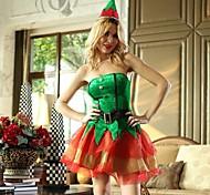 Natale sexy abito verde albero adulto costume della donna di Natale