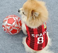 Number 8 Spain Sports Clothes for Pet Dogs (Assorted Sizes)