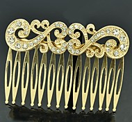 Vintage Style Women Party Jewelry Clear Rhinestone Palace Hair Comb Accessories