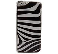 Zebra Plastic Hard Back Cover for iPhone 6