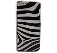 Zebra Plastic Hard Back Cover for iPhone 6