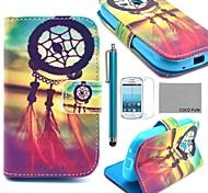 Coco Fun® modelo de nudo chino caja de cuero de la PU con el protector de pantalla y lápiz para Samsung Galaxy Ace 3 s7272 / s7275