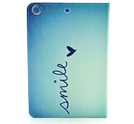 Smile From Heart Pattern PU Leather Full Body Case with Stand for iPad Air