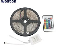 WOSTON Waterproof 5M 300x3528 SMD RGB LED Strip Light with 24-Button Remote Controller