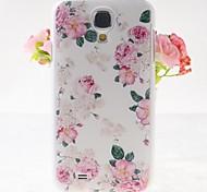 rosa rosa patrón repujado nuevo caso para i9500 samsung galaxy s4