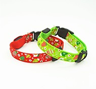 Gatos / Cães Colarinho Luzes LED Vermelho / Verde Náilon