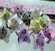 2 x 18 PCS Glitter Powder Musical Note  Pattern Lucky Star Origami Materials (Random Color)