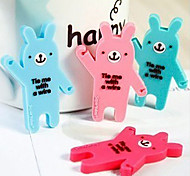 Cute Bear Cartoon Earphone Cable Wire Cord Organizer Cable Winder