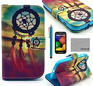 COCO FUN® Chinese knot Pattern PU Leather Full Body Case with Screen Protector, Stylus and Stand for Motorala Moto E