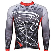 PALADIN Men's Cycling Tops Long Sleeve Bike Spring / Summer / Autumn Breathable / Ultraviolet Resistant / Quick Dry Black / Sky BlueS / M