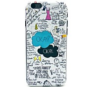 Okay Pattern Plastic Hard Cover for iPhone 6