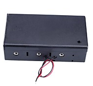 4 Slot x D Size Battery Power Source Holder Case Box with Leads and Cap