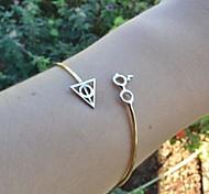 shixin® Mode 18cm Frauen-Legierung Manschette Armbänder (golden, schwarz) (1 Stück)