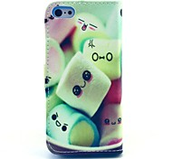 Towel Cake Pattern Full Body Case with Stand and Card Slot for iPhone 5C