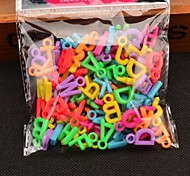 100 1.5cmRainbow Colorful Loom Rubber Band  Letter