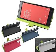 venda quente 100% pu couro caso de couro da aleta para Xiaomi nota hongmi (cores sortidas)